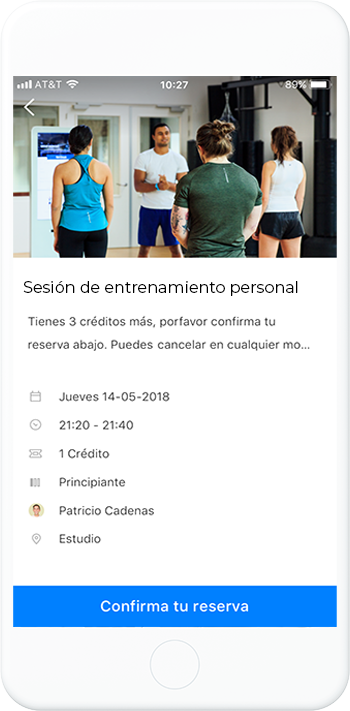 Personal Training Booking (ES)